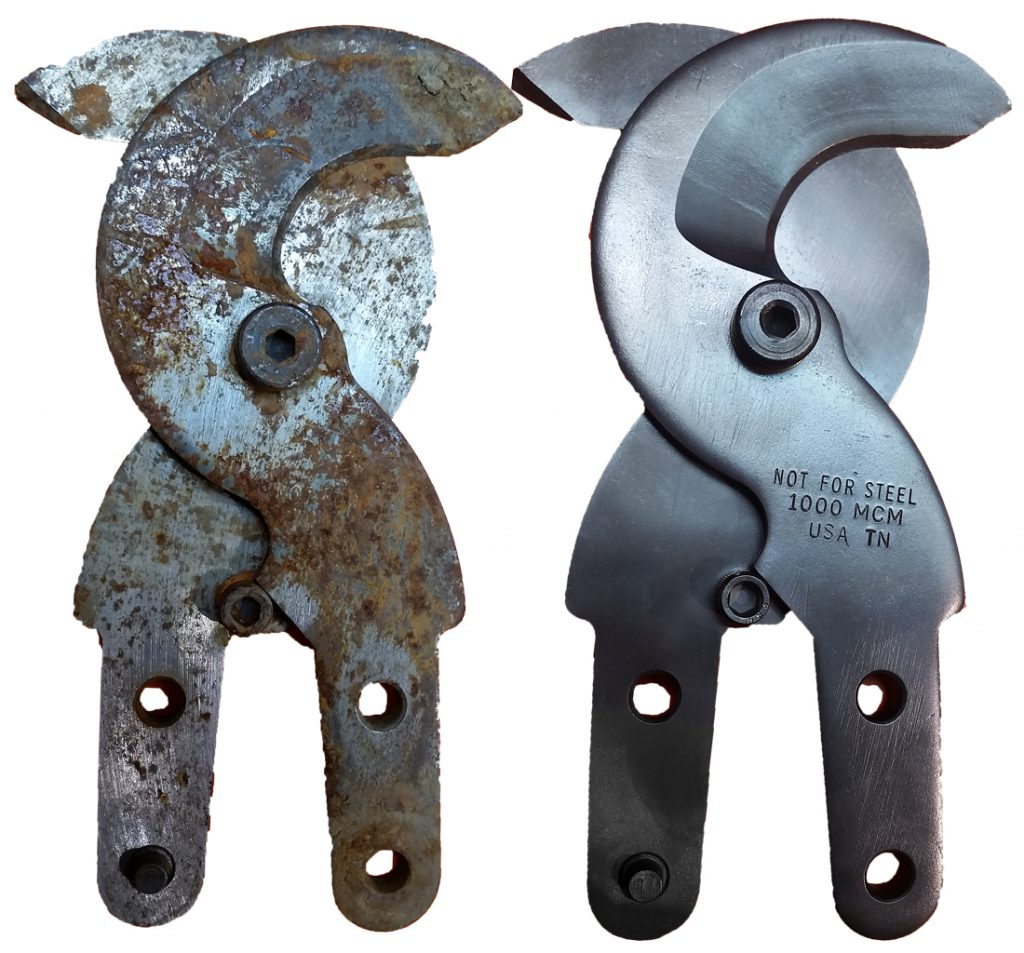 Bolt-Cutters-Hot line tool repair before and after