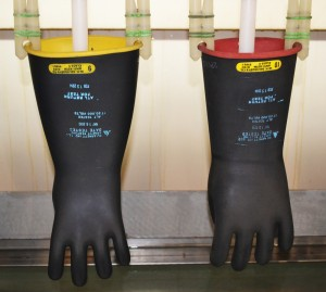 insulated rubber glove testing lab