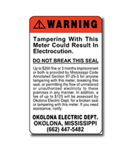 Tamper warning labels