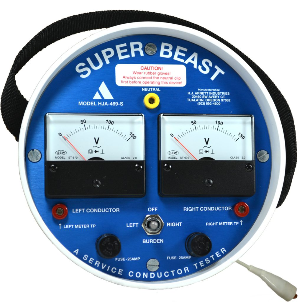 Super Beast Analog | PN: HJA-469-S | secondary service conductor tester | HJ Arnett Industries | (503) 692-4600