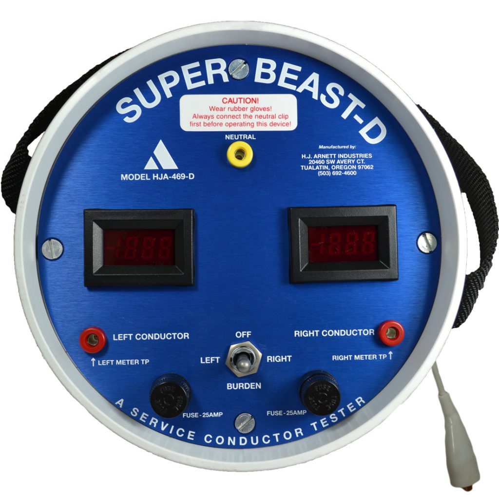 Super Beast Digital | secondary service conductor tester | HJA-469-D | HJA-469-DSCO HJ Arnett Industries | (503) 692-4600