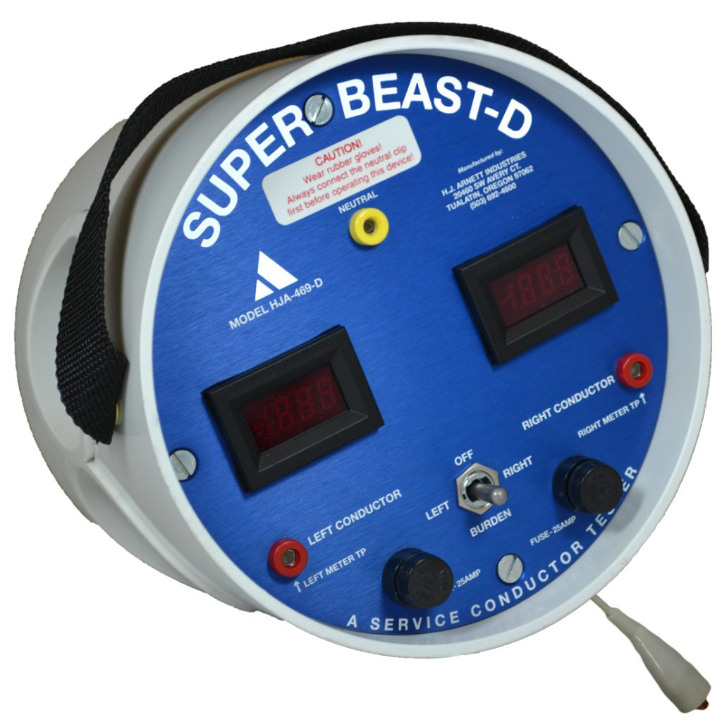 The Super Beast 20 Amp Service Conductor Tester Electrical Entrance Wiring Diagram Digital Hj Arnett Industries