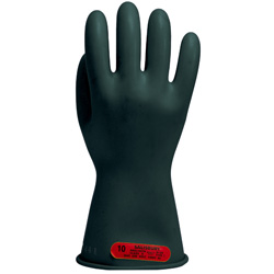 "Salisbury Class 0 Rubber Gloves Black 11"" (Max Use: 1kV)"