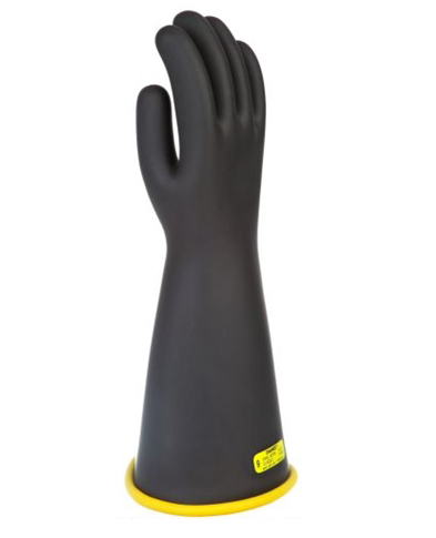 "Chance Class 2 Rubber Gloves Yellow/Black 16"" (Max Use: 17kV)"