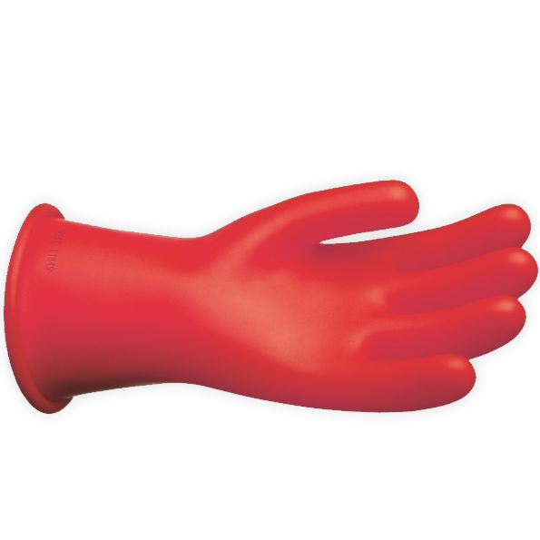 "Chance Class 0 Rubber Gloves Red 11"" (Max Use: 1kV)"