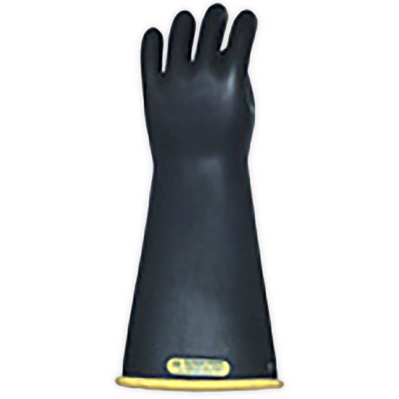 "Salisbury Class 2 Rubber Gloves Yellow/Black 14"" (Max Use: 17kV)"