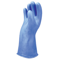"Salisbury Class 0 Rubber Gloves Blue 14"" (Max Use: 1kV)"