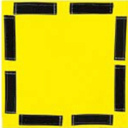 "Salisbury Class 0 Yellow Blanket w/ Velcro 12""x12"" (Max Use: 1kV)- 1212YLV"
