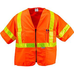 Hi-Vis Orange Surveyor Vest (ANSI Class 3)