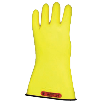 "Salisbury Class 0 Rubber Gloves Black/Yellow 11"" (Max Use: 1kV)"