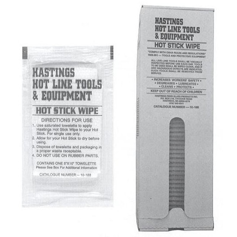 Hastings Hot Stick Wipes 10-188