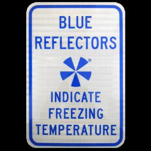 IceAlert BSS100 Explanatory Sign