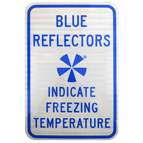 IceAlert BSS200 Explanatory Sign