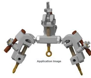 Universal Three-Way Grounding Clamps